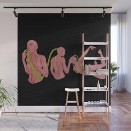Floating in Space Black Wall Mural