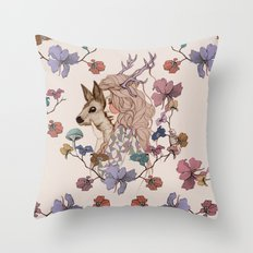 Oh My Deer Throw Pillow