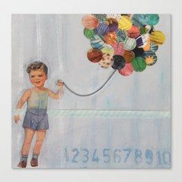 boy balloon Canvas Print