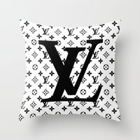 lv Throw Pillows featuring lv   pillow by HeyShay
