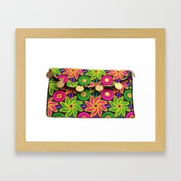 Designer Vintage Style Ladies Clutch Bag Framed Art Print
