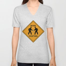 FUTURE FORMS OF EARTH (an adventure in neo-organics) Unisex V-Neck