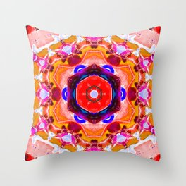 bright orange butterfly Throw Pillow