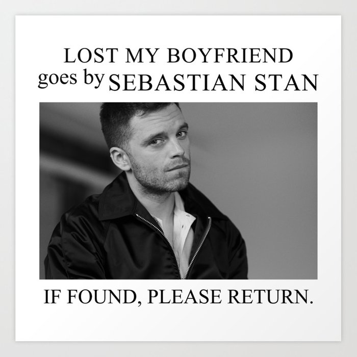 Lost my boyfriend Sebastian Stan Kunstdrucke