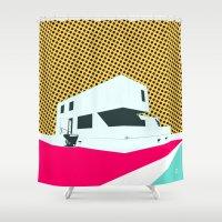 bauhaus Shower Curtains featuring Bauhaus Meisterhaus Pop 2 by Marko Köppe