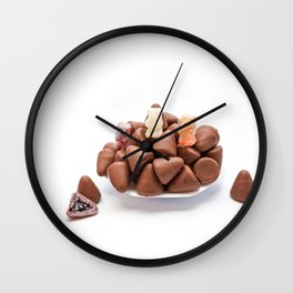 the cuberdons chocolate Wall Clock