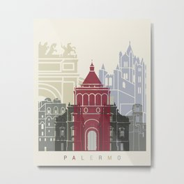 Palermo skyline poster Metal Print