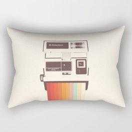 Instant Camera Rainbow Rectangular Pillow