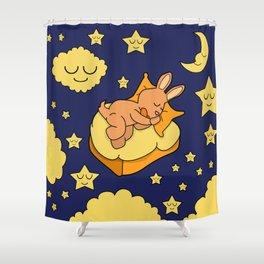 Sleeping Bunny Shower Curtain