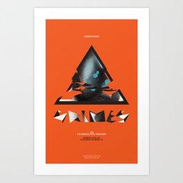 Grimes Gig Poster Art Print