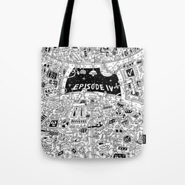 B&W Cocpit Tote Bag
