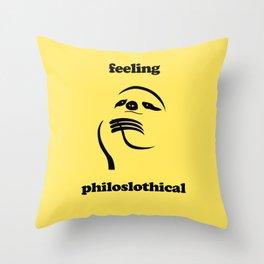 Feeling Philoslothical Throw Pillow