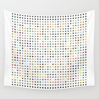 pi Wall Tapestries featuring Pi Dots by Peter Kappus