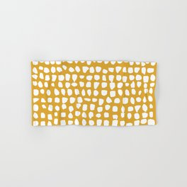 Dots / Mustard Hand & Bath Towel