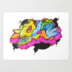 QU That Funky Style Art Print