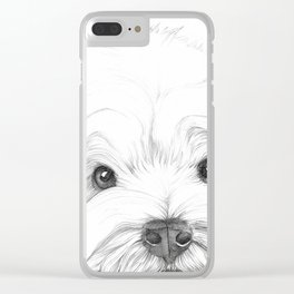 West Highland White Terrier, Westie Portrait, Cute dog Clear iPhone Case