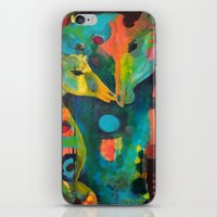 giraffes iPhone & iPod Skins featuring Giraffes by Silke Powers