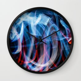 Absract blue and red light effect Wall Clock