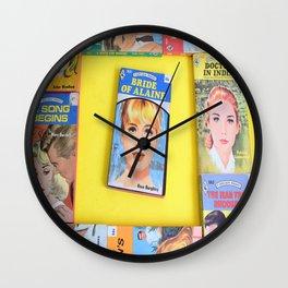 Romance Novels - Yellow Wall Clock