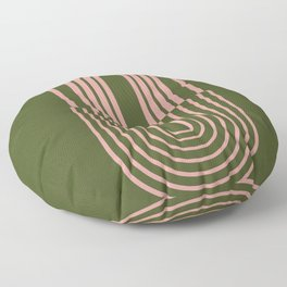Magical Rainbow over Green Floor Pillow
