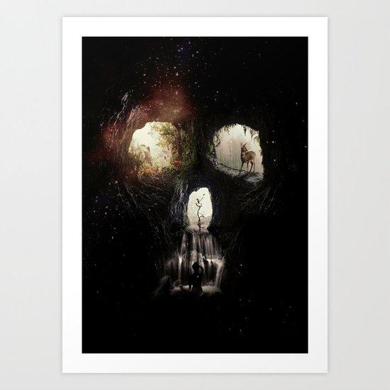 Cave Skull Art Print