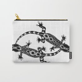 Tangled Geckos on White Carry-All Pouch