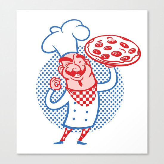 Pizza Chef Canvas Print