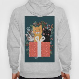 Cats cute christmas xmas tree holiday funny cat art cat lady gift unique pet gifts Hoody