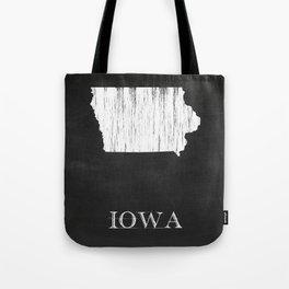 Iowa State Map Chalk Drawing Tote Bag
