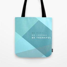 Teal Geometric Artwork Tote Bag