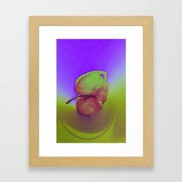 Pink-blue Apple Framed Art Print