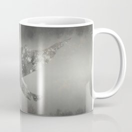 Dream Space - Surreal Image with A Whale Coffee Mug