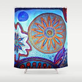 Energy of Orbs Shower Curtain