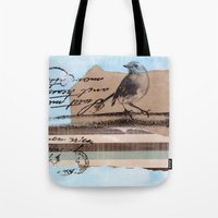 birdy Tote Bags featuring Birdy by zAcheR-fineT