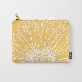 Minimalist Sunflower Carry-All Pouch