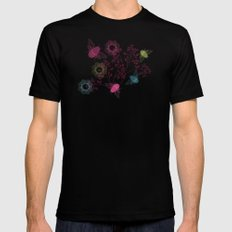 Busy Bees Black MEDIUM Mens Fitted Tee