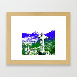 8-bit Rio Framed Art Print