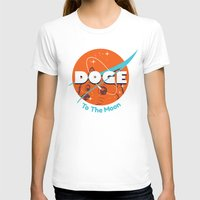 nasa T-shirts featuring Doge Nasa Variant (To The Moon!) by Tabner's