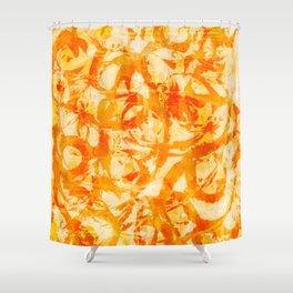 abstract stormy splashy texture (fiery yellow/orange) Shower Curtain