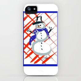 A Frosty Snowman DP150903c iPhone Case