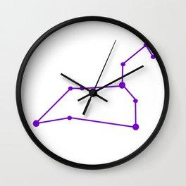 Leo (Purple & White) Wall Clock