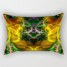 Colorful Aliens Rich Figures Fractal Rectangular Pillow