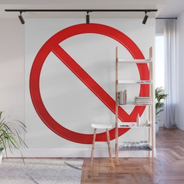 Not Allowed Sign Blank Wall Mural