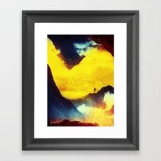 This volcano is mine Framed Art Print