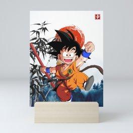 Dragon Ball goku vegeta Mini Art Print