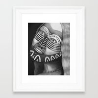 lights Framed Art Prints featuring Lights by Lou Patrou