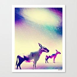 KANGAROO ZEBRA WILDEBEEST Canvas Print