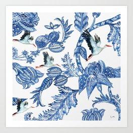 The Royal Batik Migration Art Print