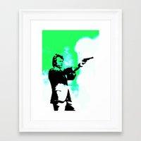 clint barton Framed Art Prints featuring Clint by Fimbis