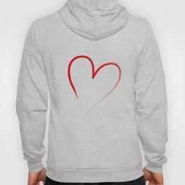 red heart Hoody